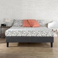 Zinus Curtis Essential Upholstered Platform Bed with Wood Slat Support, Multiple Sizes