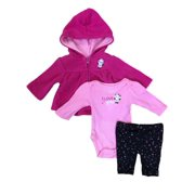 c9ced1e65 Infant Girls Hot Pink Panda Bear Baby Outfit Pants Creeper & Hoodie Jacket  Set
