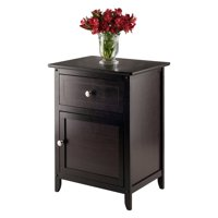 Winsome Trading Night Table With Cabinet and Drawer, Multiple Colors