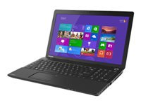 """Toshiba Satin Black 15.6"""" Satellite C55D-A5240NR Laptop PC with AMD Dual-Core E1-1200 Accelerated Processor, 4GB Memory, 500GB Hard Drive and Windows 8"""