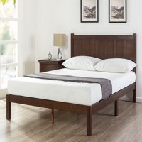 Zinus Adrian Wood Rustic Style Platform Bed with Headboard, Multiple Sizes