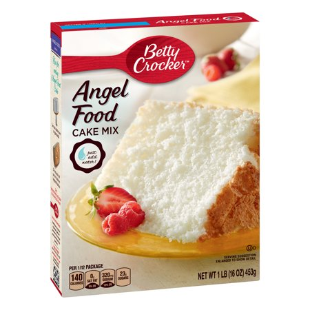 (2 Pack) Betty Crocker Super Moist Angel Food Cake Mix, 16 oz