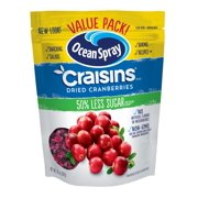 Ocean Spray Craisins Dried Cranberries Reduced Sugar, 20.0 OZ