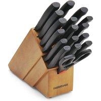Farberware 18- Piece Never Needs Sharpening Knife Block Set