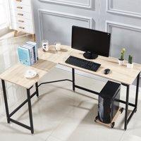 Corner desk office White Product Image Lshape Corner Computer Desk Pc Wood Steel Laptop Table Workstation Home Office Walmart Corner Lshaped Desks Walmartcom