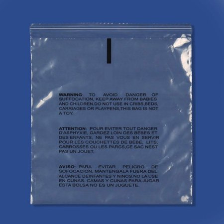Self Seal Clear Resealable Plastic Bags, w/ Suffocation Warning Print, Water Resistant 22