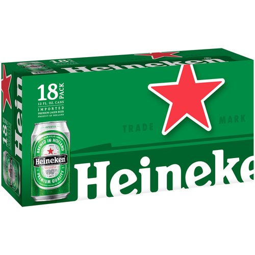 Heineken Lager Beer, 18 pack, 12 fl oz