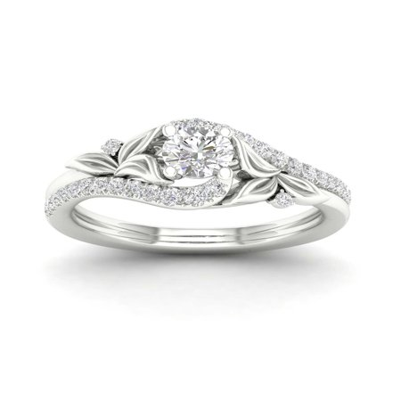 - Imperial 5/8Ct TDW Diamond 14k White Gold Promise Ring (I-J, I2)