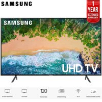 """Samsung UN55NU7100 55"""" (UN55NU7100FXZA) NU7100 Smart 4K UHD TV 2018 Model with 2x 6ft High Speed HDMI Cable + Universal Screen Cleaner for LED TVs"""
