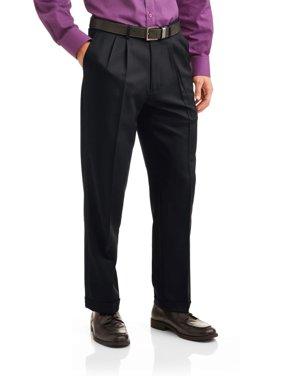George Men's Microfiber Performance Pleated Dress Pant