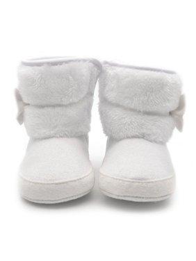 Babula Baby Infant Girls Warm Snow Boots Winter Crib Shoes 0-18M