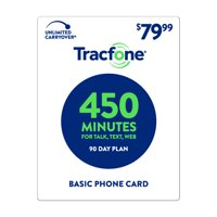 TracFone $79.99 Basic Phone 450 Minutes Plan (Email Delivery)