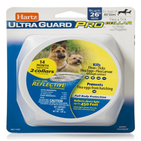 Hartz Flea and Tick Ultraguard Pro Reflective Dog Collar, 2 Pack of 7 Month Collars