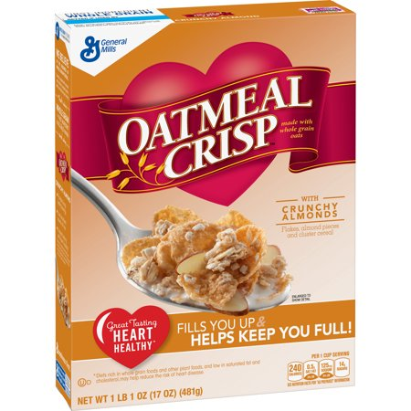 (2 Pack) Oatmeal Crisp with Crunchy Almond Cereal, 17 oz ()