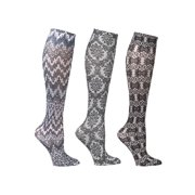 e82c84266 Women s Mild Compression Wide Calf Knee High Support Socks - 3 Pair