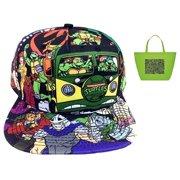 Teenage Mutant Ninja Turtles Sublimated Snapback Hat   Tote Gift Set b52f7d0526a3