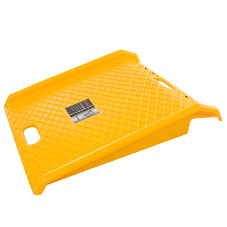 Curb Ramp-Portable Poly Ramp With 1000Lbs Weight Capacity-For Delivery, Hand Truck, Carts, Wheelchairs, and Walkers by Stalwart (Yellow)