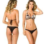 4b564a0e5229a Women s Coqueta Swimwear Brazilian Swimsuit Bikini Bottom Enhancer Push Up  Triangle Top