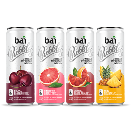 12 Pack Sampler (Bai Bubbles Sparkling Antioxidant Infusion Voyager Antioxidant Beverage Variety Pack, 11.5 fl oz, 12 pack )