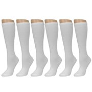 15555a6897d All Top Bargains Knee High Socks School Girl Uniform Soccer Sport Women  Girls White Size 9