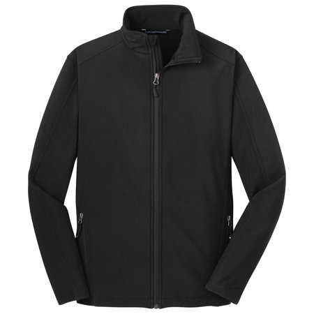 Port Authority Men's Traditional Core Soft Shell Jacket (Black Transition Tall Jackets)