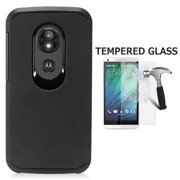 ... Hard Cover Case + Tempered Glass Screen Protector (Black). Product Image. For Motorola moto e play (5th Gen) Case, Motorola Moto E5 Play Case