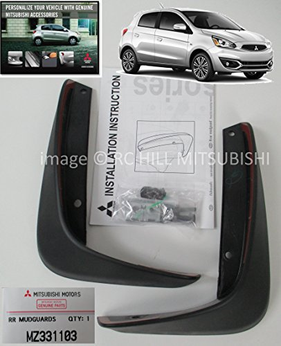 2017 GENUINE MITSUBISHI MIRAGE REAR MUDGUARDS MZ331103 3DR HATCHBACK MUD SPLASH SHIELD SET, DOES NOT APPLY TO G4 4DR - Mitsubishi Mirage Specs