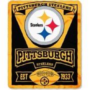 7fdf81df9 Pittsburgh Steelers NFL Northwest Marque Fleece Throw