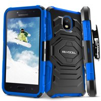 Galaxy J7 (2018) Case, Evocel [Belt Clip Holster] [Kickstand] [Dual Layer] New Generation Series Phone Case for Samsung Galaxy J7 (2018) / J7 V 2nd Gen / J7 Refine / J7 Crown / SM-J737P , Blue