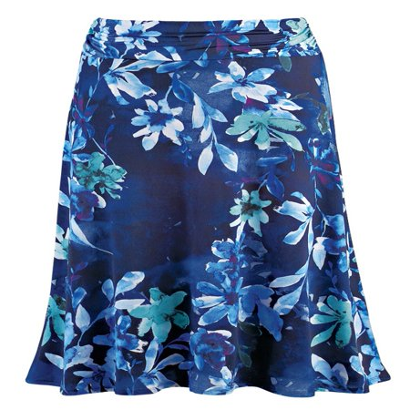 - Women's Dressy/Casual Floral Print Maxi Skirt with Elastic Waist, X-Large, Blue Multi