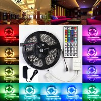 Lightahead® IP65 300 LED Water Resistant Flexible Strip Light - 16.4 feet (5 Meter) Color Changing RGB LED Strip Light Kit with Remote Control