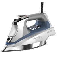 BLACK+DECKER Allure™ Digital Professional Steam Iron, Gray/Blue, D3040