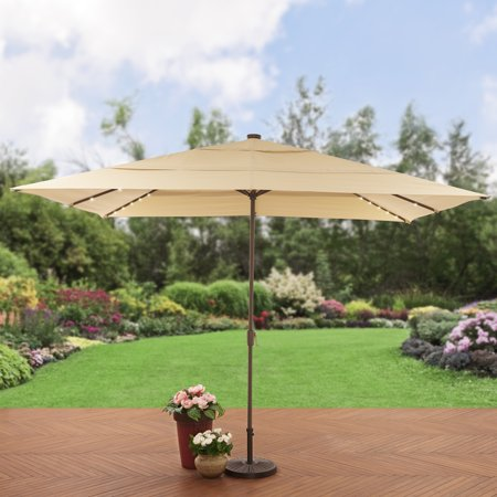 Aluminum Solar Lighted Patio Umbrella - Walmart.com - Better Homes And Gardens 8 X 11 Ft. Aluminum Solar Lighted Patio