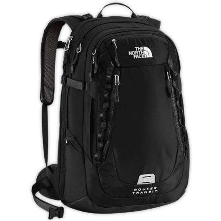 9da85e2bf2 The North Face Router Transit Backpack TSA Laptop Approved Black Bag ...