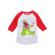 Awkward Styles Dinosaur Birthday Toddler Raglan 4th Party Shirt Gifts For Kids Themed