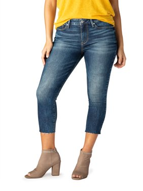 Signature by Levi Strauss & Co. Women's High Rise Ankle Skinny Cut off Jeans