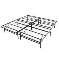 Best Choice Products Platform Metal Bed Frame Foldable No Box Spring Needed Mattress Foundation King
