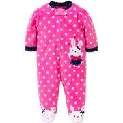 Little Me Bunny Blanket Sleeper Warm Fleece Footie Footed Pajamas Pink 18  Months For Baby Girls 2c20c7fdf