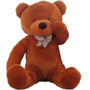 a26648316e7 WOWMAX 4.5 Foot Dark Brown Giant Huge Teddy Bear Cuddly Stuffed Plush  Animals Teddy Bear Toy