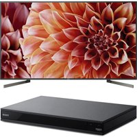 Sony 85-Inch 4K Ultra HD Smart LED TV 2018 Model (XBR85X900F) with Sony 4K Ultra HD Smart Blu-Ray Player with Hi Res 2017 Model