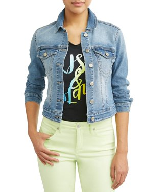 Marianella Soft Stretch Washed Denim Jacket Women's (Light Wash)