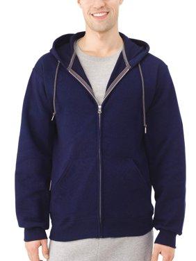 Fruit of the Loom Big Men's Dual Defense EverSoft Fleece Full Zip Hooded Sweatshirt