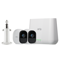 Arlo Pro Indoor/Outdoor 720p Security Camera System (VMS4230-100NAS & VMA1000) by Netgear with 2 Rechargeable Wire-Free HD Cameras with Audio, Night Vision, plus FREE Outdoor Mount
