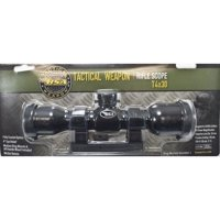 BSA Tactical 4x30mm Scope with Mil-Dot Reticle, Rings and AR Handle-Mount Clam Pack