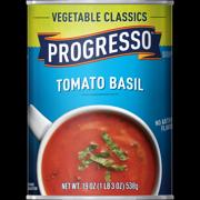 (8 Pack) Progresso Soup, Vegetable Classics, Tomato Basil Soup, 19 oz Can