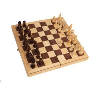 """Classic Games Collection Inlaid Wood Chess Set with 3"""" King"""