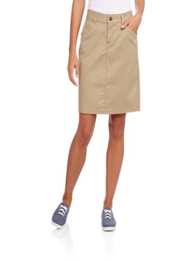 654622519f9e2 Product Image Women s Button Front Blended Twill Skirt