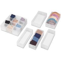 Whitmor 6064-A186, Drawer Organizer Combo Pack 6 Count