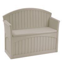 Suncast 50 Gallon Resin Patio Storage Bench, Light Taupe, PB6700