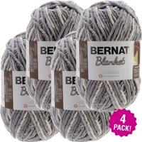 Bernat Blanket Big Ball Yarn - Silver Steel, Multipack of 4